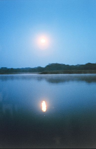 A full moon reflecting off the river - NOAA