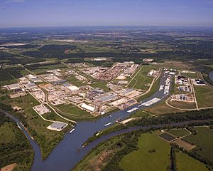 Aerial photo of the Tulsa Port of Catoosa taken May 5, 2008