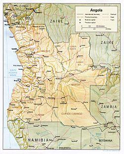 Angola For Kids Kiddle - Angola provinces map