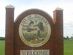 Dalhart welcome sign IMG 0567