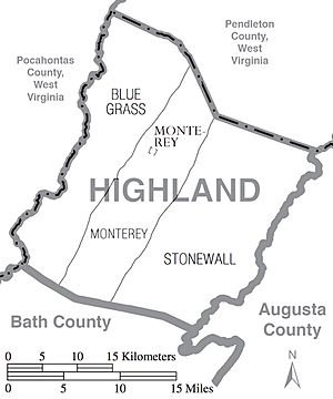 Highland County Virginia Census Map