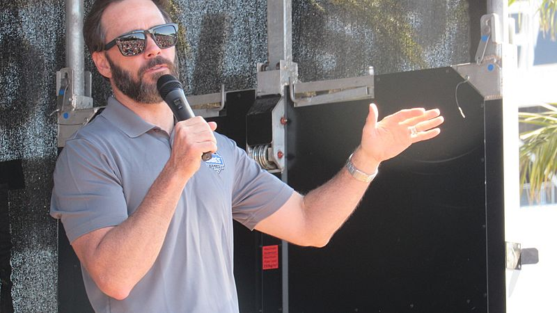 Jimmie Johnson in the Chevy Fan Zone at Daytona International Speedway