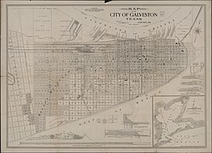 Map of City of Galveston
