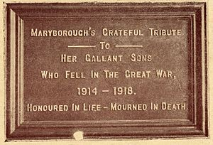 Memorial Tablet, Queen's Park, Maryborough, ca.1922