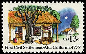 Stamp US 1977 13c Alta California