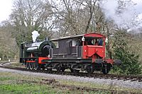 WD132 Sapper South of Middle Forge Junction Dean Forest Railway.JPG