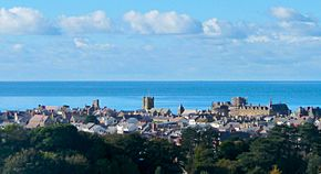 Aberystwyth and Cardigan Bay, seen from the National Library of Wales