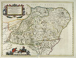 Blaeu - Atlas of Scotland 1654 - ABERDONIA & BANFIA - Aberdeenshire and Banffshire
