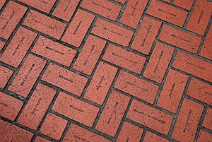 Pioneer Courthouse Sq - imprinted bricks, main plaza