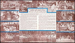 Promotional flyer for Paradise Park (pages 2 and 3)