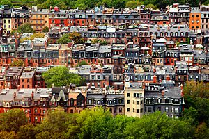 Boston backbay brownstones