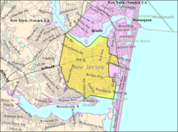 Census Bureau map of Point Pleasant, New Jersey