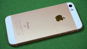 IPhone SE rose gold rear