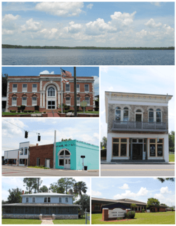 Images from top, left to right: Butler Lake, Union County Courthouse, Downtown Lake Butler, Townsend-Green Building & Museum, Lake Butler Woman's Club, Union County High School