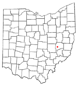 Location of Cambridge, Ohio