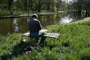 Scenery painter Schlosspark Charlottenburg berlin 20080423