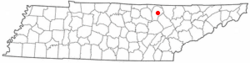 Location of Allardt, Tennessee