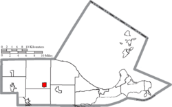 Location of Rocky Ridge in Ottawa County