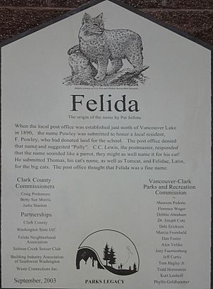 Origin of the name Felida, Washington