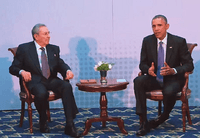 President Obama Meets with President Castro