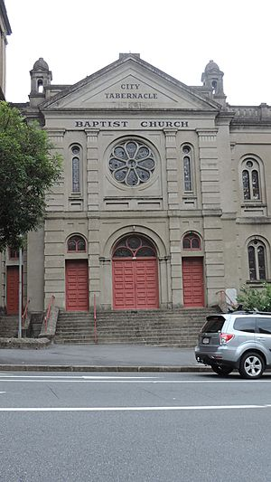 Baptist City Tabernacle, corner of Wickham Terrace and Upper Edward Street, Spring Hill, Brisbane, 2015 05