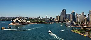 Circular Quay from Sydney Harbour Bridge (2015-02-08)
