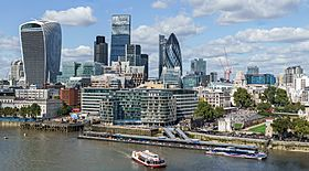 City of London skyline from London City Hall - Sept 2015 - Crop Aligned