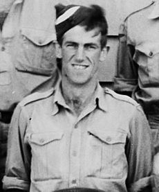 Edmund Hillary at Delta Camp near Blenheim during WWII