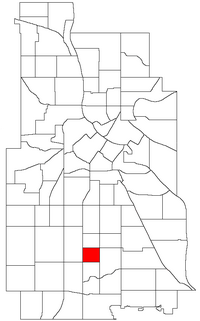 Location of Regina within the U.S. city of Minneapolis