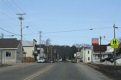 Looking north at downtown Poy Sippi