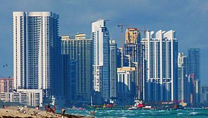 Sunny Isles Beach skyline from the south cropped