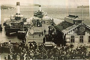 Sydney Ferries FAIRLIGHT and BRIGHTON at Manly Wharf