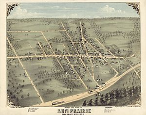 Bird's-Eye.View Sun Prairie ca.1875
