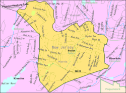 Census Bureau map of Butler, New Jersey