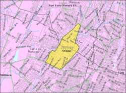Census Bureau map of Orange, New Jersey