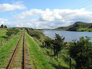 Fintown Railway on trackbed of CDR County Donegal Railway, Lough Finn (5951398952)