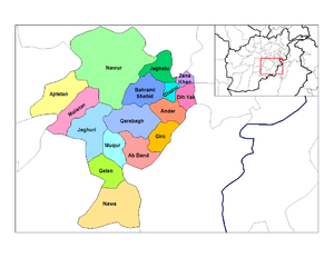 Ghazni districts