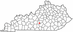 Location of Greensburg, Kentucky