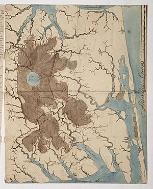 Sketch map of the Great Dismal Swamp RMG K1082