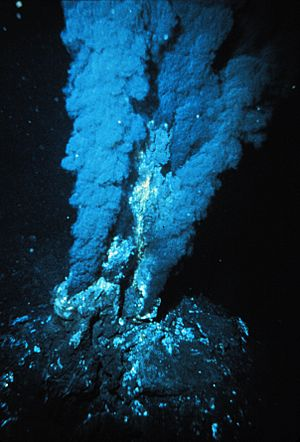 Blacksmoker in Atlantic Ocean