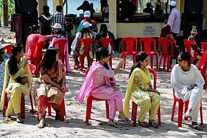 CCPC students playing musical chairs at Bandarban (03)