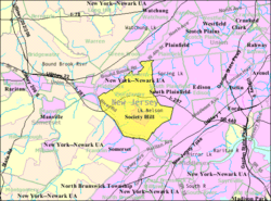 Census Bureau map of Piscataway Township, New Jersey