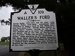 Col George Waller Waller's Ford Henry County Virginia