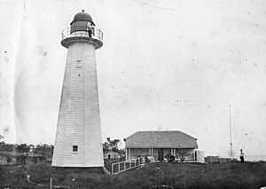 Cowan Cowan lighthouse, Moreton Island, 1899
