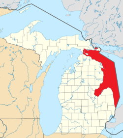 Lake Huron (Michigan highlighted)