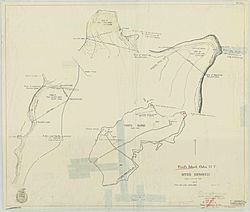 Map of Ford's Island, Oahu, H. T. - NARA - 77-WDMC Hawaii-82