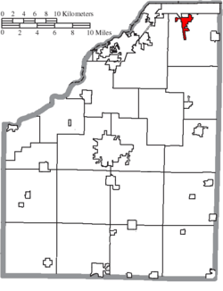 Location of Walbridge in Wood County