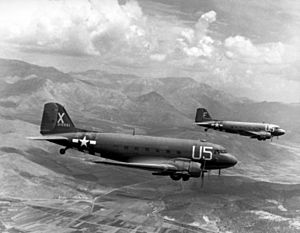 Two USAAF C-47A Skytrains
