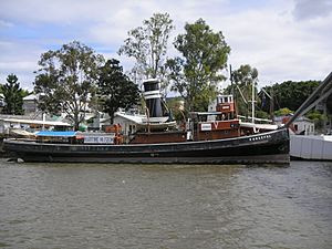 Forceful docked at the Queensland Maritime Museum in 2008