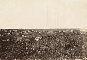 Lecompton, Kansas, in 1867, 50 miles west of Missouri River. (Boston Public Library) (cropped)